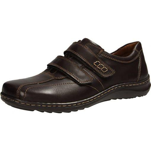 Waldlaufer kényelmi tépőzáras cipő Herwig bőr barna