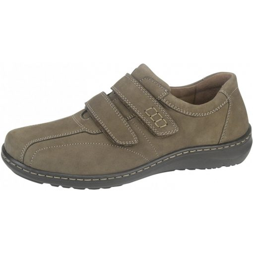 Waldlaufer kényelmi tépőzáras cipő Herwig nubuk barna