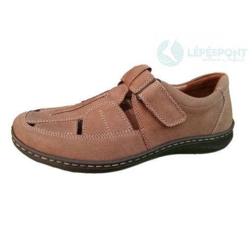 Waldlaufer kényelmi lyukacsos tépőzáras cipő Herwig nubuk barna