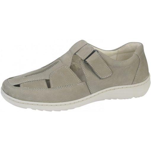 Waldlaufer kényelmi lyukacsos tépőzáras cipő Herwig nubuk bézs