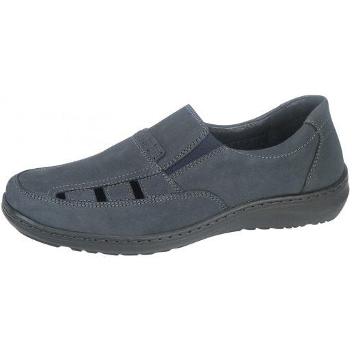 Waldlaufer kényelmi lyukacsos belebújós cipő Herwig nubuk sötétkék
