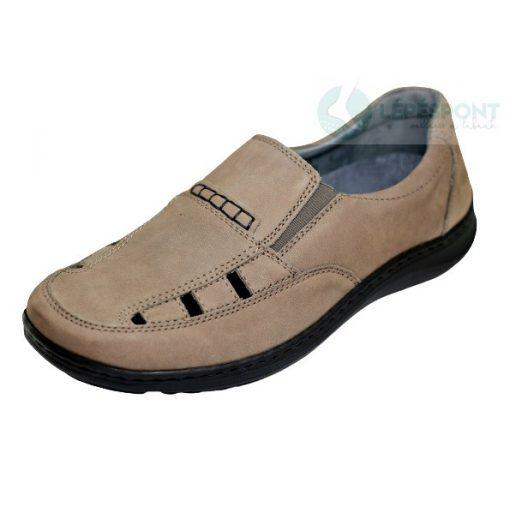 Waldlaufer kényelmi lyukacsos belebújós cipő Herwig nubuk szürke
