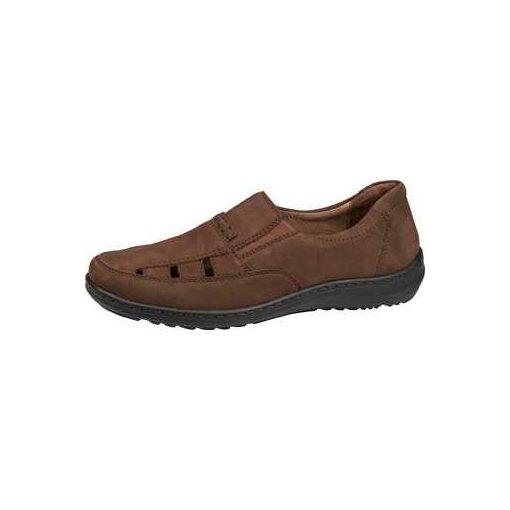 Waldlaufer kényelmi lyukacsos belebújós cipő Herwig nubuk sötétbarna