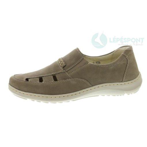 Waldlaufer kényelmi lyukacsos belebújós cipő Herwig nubuk bézs