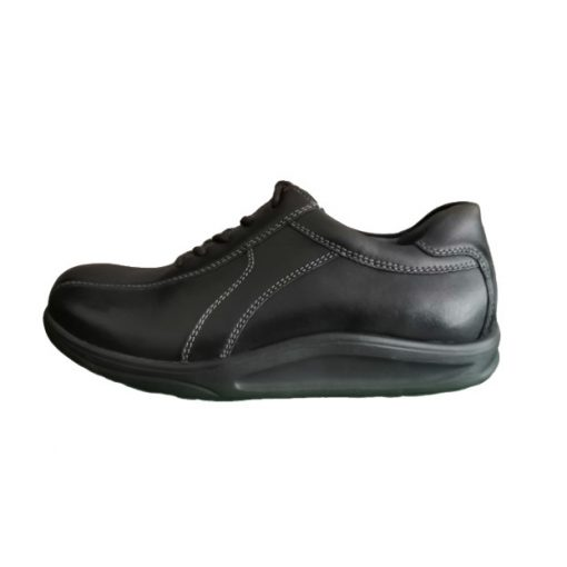 Waldlaufer dynamic gördülő talpú fűzős cipő Helgo bőr fekete