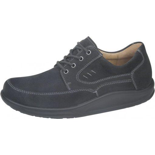 Waldlaufer dynamic gördülő talpú fűzős cipő Helgo nubuk fekete