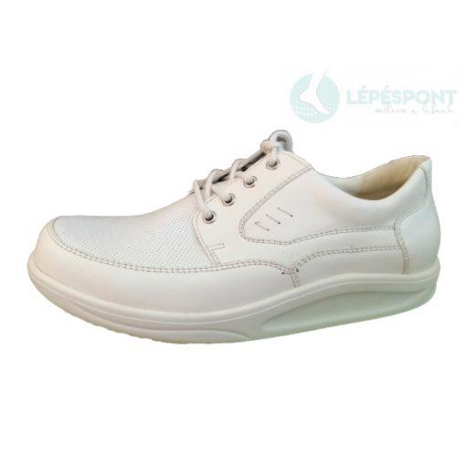 Waldlaufer dynamic gördülő talpú fűzős cipő Helgo bőr fehér