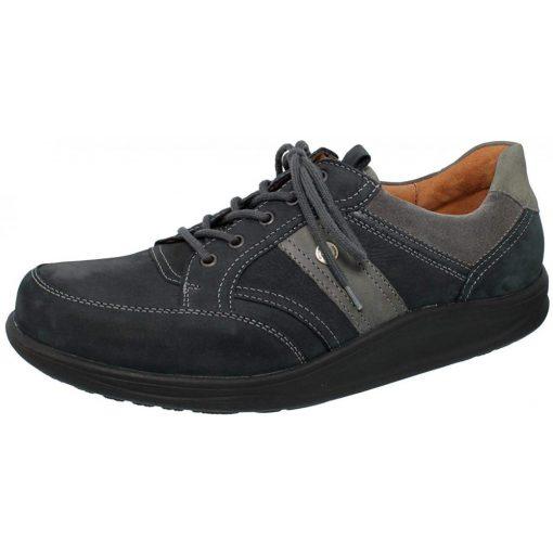 Waldlaufer dynamic gördülő talpú fűzős cipő Helgo nubuk kék