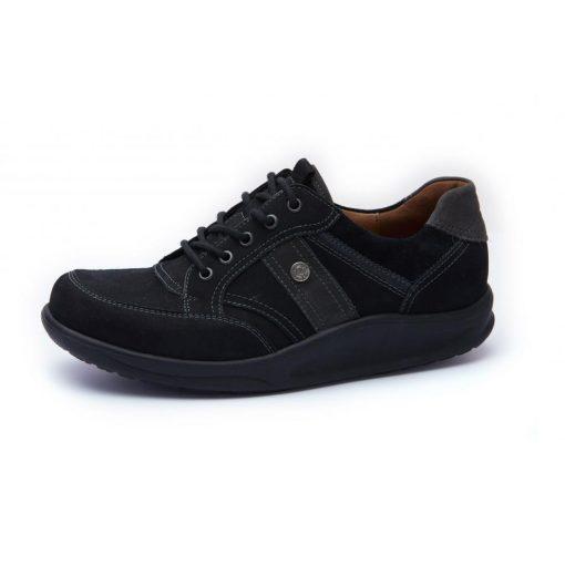 Waldlaufer dynamic gördülő talpú fűzős cipő Helgo nubuk fekete szürke