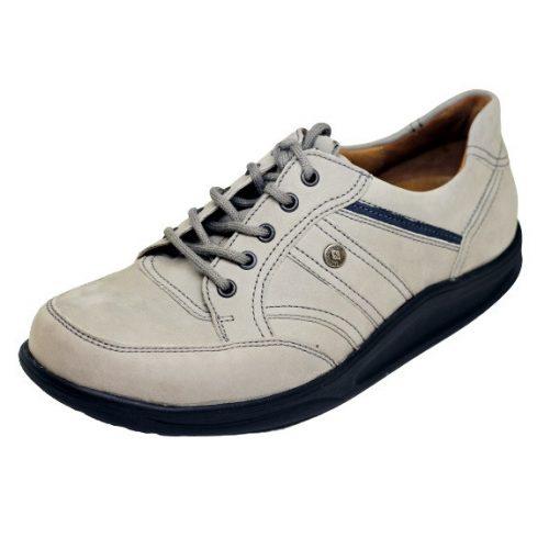 Waldlaufer dynamic gördülő talpú fűzős cipő Helgo nubuk szürke kék