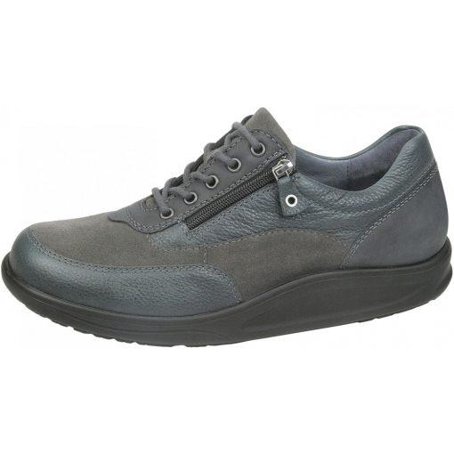 Waldlaufer dynamic gördülő talpú fűzős cipzáras cipő Helgo bőr velúr barna kékeszöld
