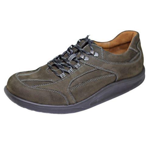 Waldlaufer dynamic fűzős cipő Helgo nubuk zöldesbarna