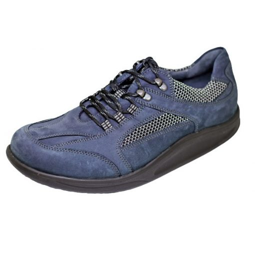 Waldlaufer dynamic gördülő talpú fűzős cipő Helgo nubuk kék szürke