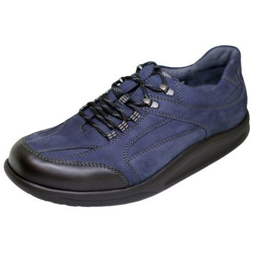 Waldlaufer dynamic gördülő talpú fűzős cipő Helgo nubuk fekete kék szürke