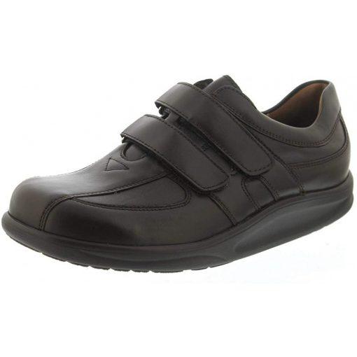 Waldlaufer dynamic gördülő talpú tépőzáras cipő Helgo bőr sötétbarna