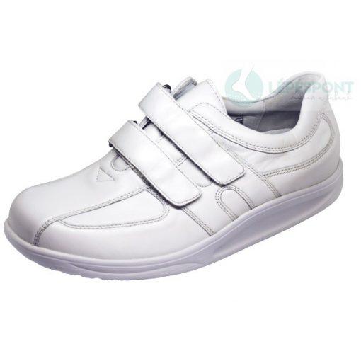Waldlaufer dynamic gördülő talpú tépőzáras cipő Helgo bőr fehér