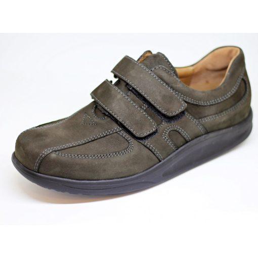 Waldlaufer dynamic gördülő talpú tépőzáras cipő Helgo nubuk zöldesbarna
