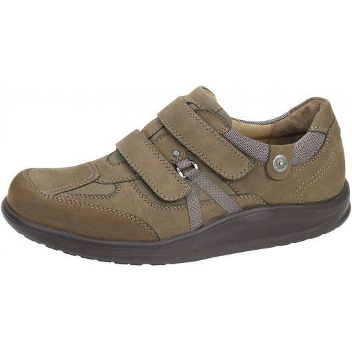 Waldlaufer dynamic gördülő talpú tépőzáras cipő Helgo nubuk barna