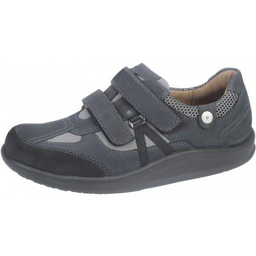 Waldlaufer dynamic gördülő talpú tépőzáras cipő Helgo nubuk kék fekete