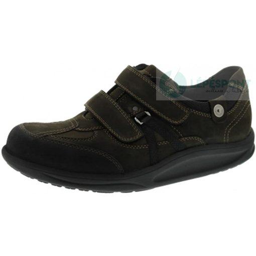 Waldlaufer dynamic gördülő talpú tépőzáras cipő Helgo nubuk zöld fekete