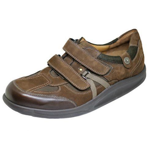 Waldlaufer dynamic tépőzáras cipő Helgo nubuk sötétbarna