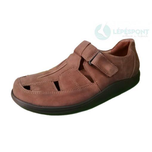 Waldlaufer dynamic gördülő talpú lyukacsos tépőzáras cipő Helgo nubuk barna