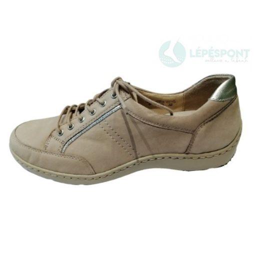 Waldlaufer kényelmi fűzős cipő Henni nubuk világos drapp