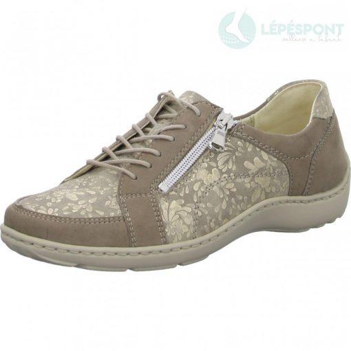 Waldlaufer kényelmi fűzős cipzáras cipő Henni nubuk mintás arany bézs