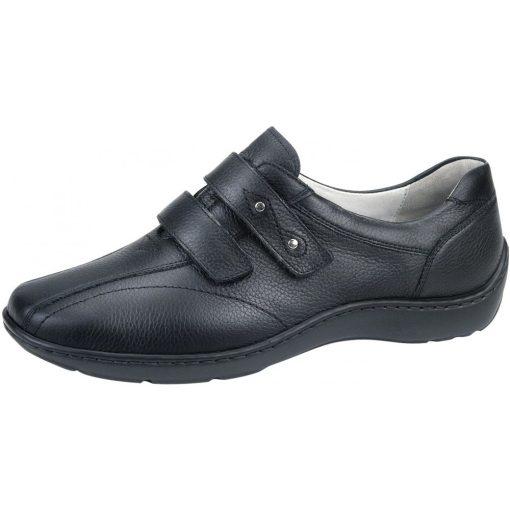 Waldlaufer kényelmi tépőzáras cipő Henni bőr fekete