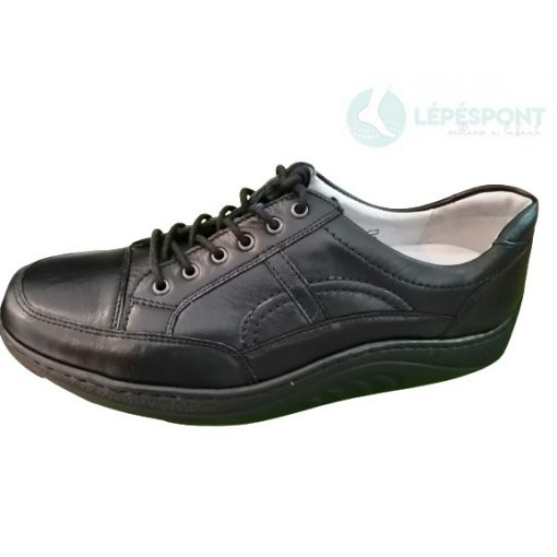 Waldlaufer dynamic gördülő talpú fűzős cipő Helli bőr fekete