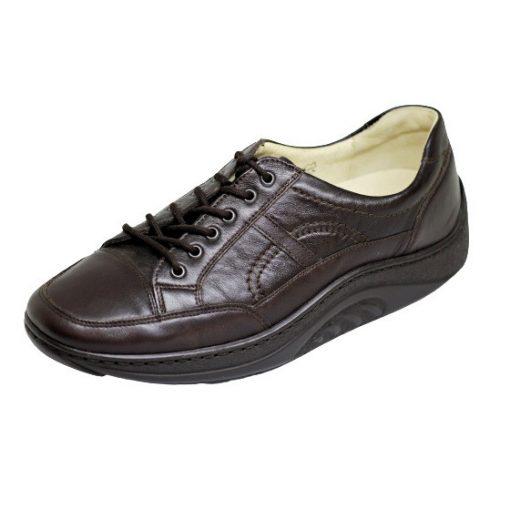 Waldlaufer dynamic gördülő talpú fűzős cipő Helli bőr sötétbarna