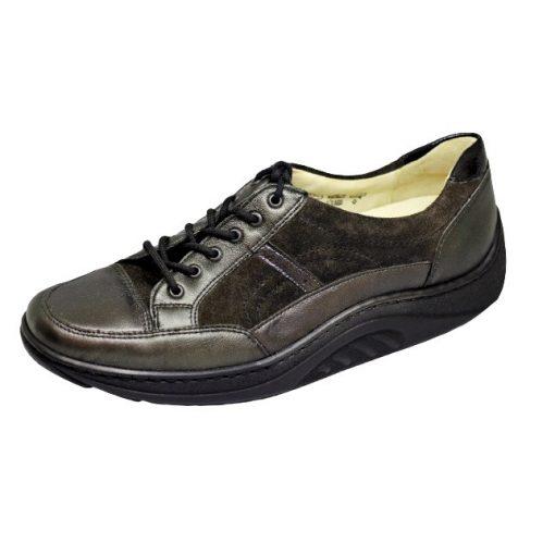 Waldlaufer dynamic gördülő talpú fűzős cipő Helli bőr zöldesbarna