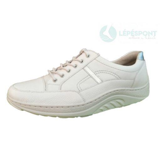 Waldlaufer dynamic gördülő talpú fűzős cipő Helli bőr fehér ezüst