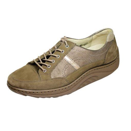 Waldlaufer dynamic fűzős cipő Helli nubuk mintás drapp arany