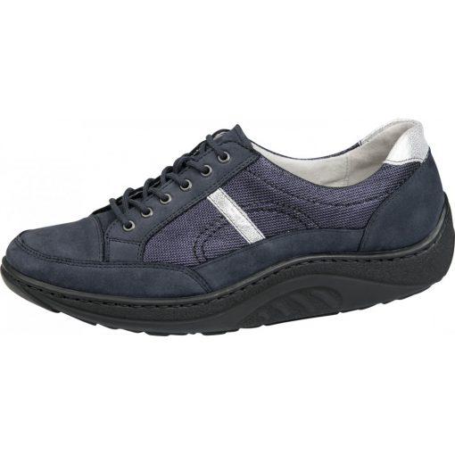 Waldlaufer dynamic fűzős cipő Helli nubuk kék ezüst