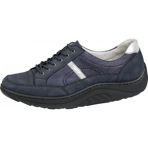 Waldlaufer dynamic gördülő talpú fűzős cipő Helli nubuk kék ezüst