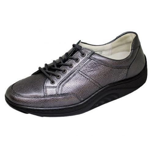 Waldlaufer dynamic gördülő talpú fűzős cipő Helli bőr szürke