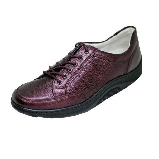 Waldlaufer dynamic gördülő talpú fűzős cipő Helli bőr bordó