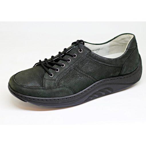 Waldlaufer dynamic gördülő talpú fűzős cipő Helli nubuk fekete