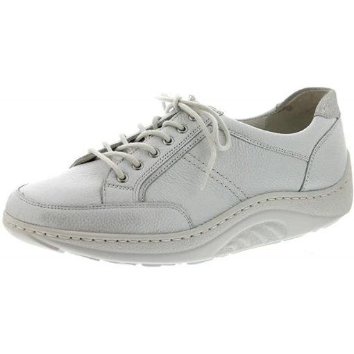 Waldlaufer dynamic gördülő talpú fűzős cipő Helli bőr szürke ezüst