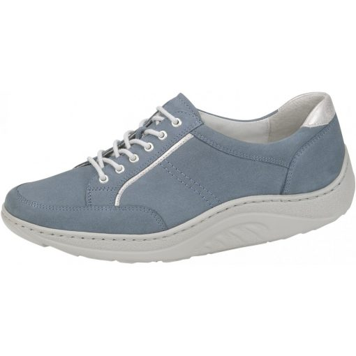 Waldlaufer dynamic gördülő talpú fűzős cipő Helli nubuk kék