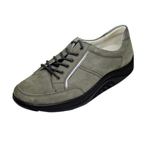 Waldlaufer dynamic gördülő talpú fűzős cipő Helli nubuk sötétszürke