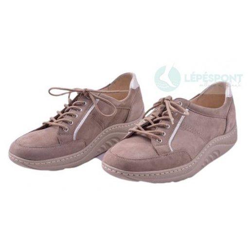 Waldlaufer dynamic gördülő talpú fűzős cipő Helli nubuk drapp ezüst