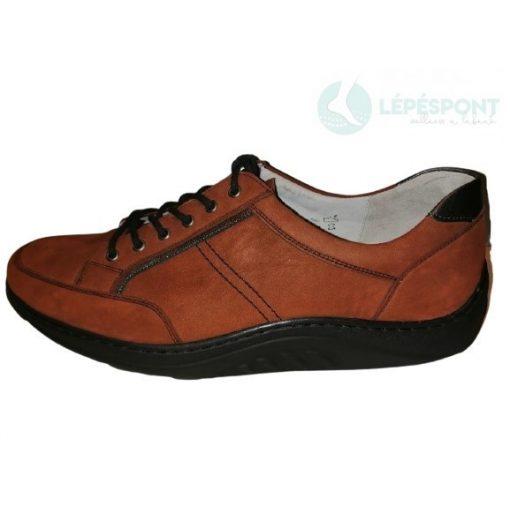 Waldlaufer dynamic gördülő talpú fűzős női cipő Helli nubuk barna