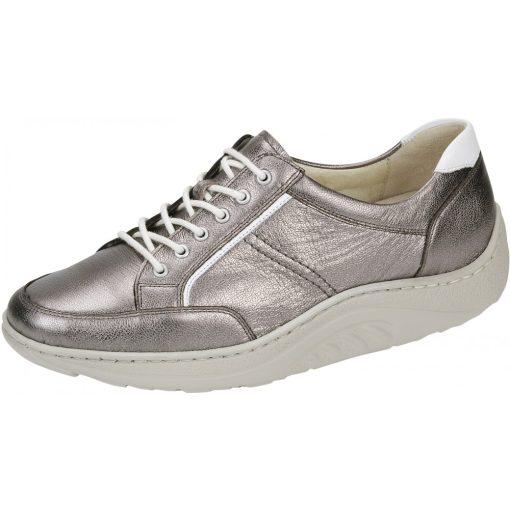 Waldlaufer dynamic gördülő talpú fűzős cipő Helli bőr fényes arany