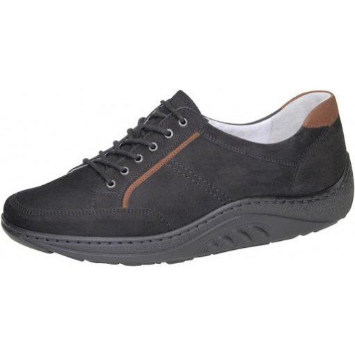 Waldlaufer dynamic fűzős cipő női Helli nubuk fekete