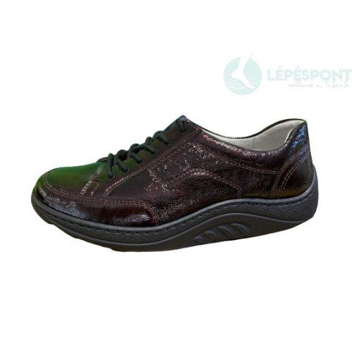 Waldlaufer dynamic gördülő talpú fűzős cipő Helli lakkbőr bordó
