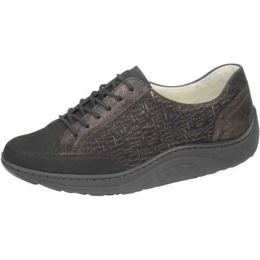 Waldlaufer dynamic gördülő talpú fűzős cipő Helli nubuk sötétbarna