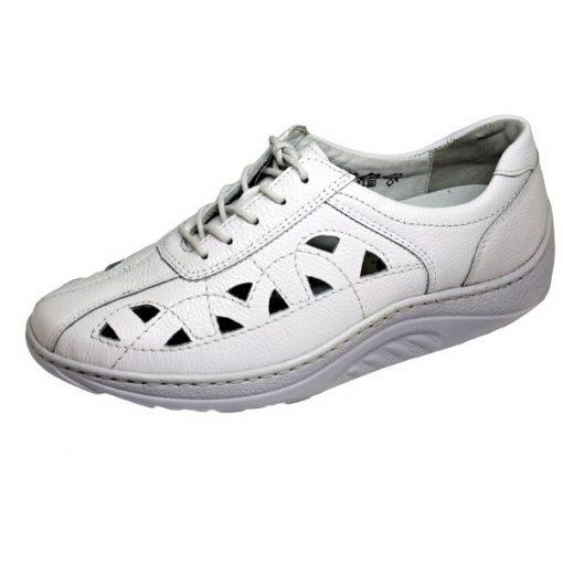 Waldlaufer dynamic lyukacsos fűzős cipő Helli bőr fehér