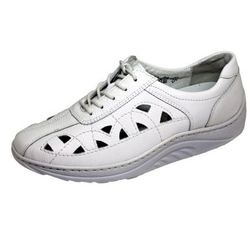 Waldlaufer dynamic gördülő talpú lyukacsos fűzős cipő Helli bőr fehér